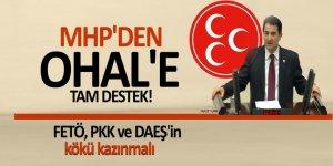 MHP'den OHAL'e tam destek! FETÖ, PKK ve DAEŞ'in kökü kazınmalı