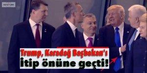 Trump, Karadağ Başbakan'ı itip önüne geçti!