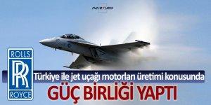 Rolls, Türkiye ile jet uçağı motorları üretimi konusunda güç birliği yaptı