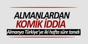 Almanlardan komik iddia: Almanya Türkiye'ye iki hafta süre tanıdı