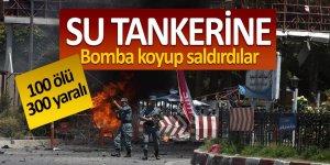 Su tankerine bomba koyup saldırdılar! 100 ölü 300 yaralı