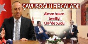 Çavuşoğlu fırçaladı! Alman bakan teselliyi CHP'de buldu