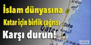 İslam dünyasına Katar için birlik çağrısı: Karşı durun!
