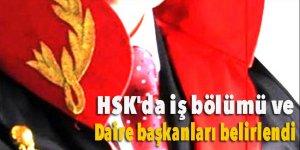 HSK'da iş bölümü ve daire başkanları belirlendi
