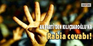 AK Parti'den Kılıçdaroğlu'na Rabia cevabı