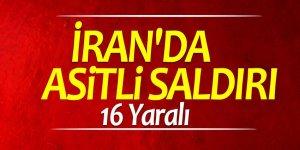 İran'da asitli saldırı! 16 Yaralı