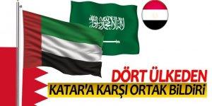 Dört ülkeden Katar'a karşı ortak bildiri
