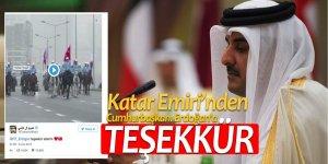 Katar Emiri, Cumhurbaşkanı Erdoğan'a teşekkür etti