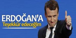 Fransa Cumhurbaşkanı Macron: Erdoğan'a teşekkür edeceğim