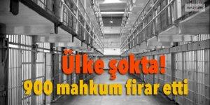 Ülke şokta! 900 mahkum firar etti