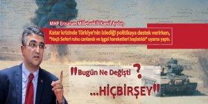 MHP'li Aydın'dan tarihi uyarı! Katar bahane, haçlı ruhu hortladı