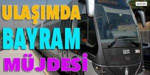 İstanbul'da bayramda ulaşıma müjde