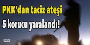 PKK'dan taciz ateşi: 5 korucu yaralandı!