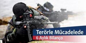 Terör örgütüyle mücadelede 6 aylık bilanço