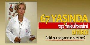 67 yaşında tıp fakültesini bitirdi