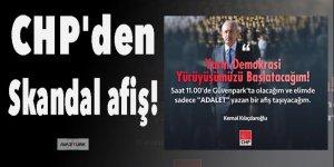 CHP'den 'demokrasi' yürüyüşüne skandal afiş!