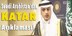 Suudi Arabistan'dan Katar açıklaması !