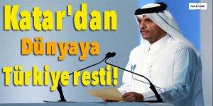 Katar'dan dünyaya Türkiye resti!