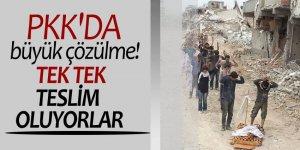 PKK'da büyük çözülme! Tek tek teslim oluyorlar