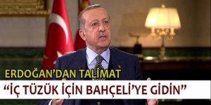 Erdoğan: İç tüzük için Bahçeli'ye gidin