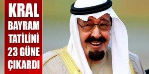 Suudi Arabistan'da rekor bayram tatili