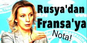 Rusya'dan Fransa'ya nota!