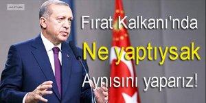 Erdoğan: Fırat Kalkanı'nda ne yaptıysak aynısını yaparız