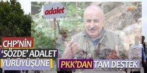 CHP'nin 'sözde' adalet yürüyüşüne PKK'dan tam destek
