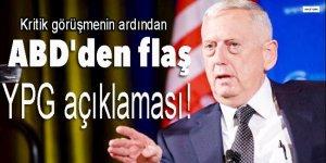 ABD'den flaş 'YPG' açıklaması!