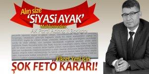 Alın size 'siyasi ayak'! Mahkemeden AK Parti Adana İl Başkanı Fikret Yeni için şok karar!