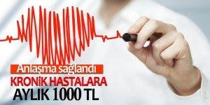 Sosyal güvencesi olmayan kronik hastalara aylık 1000 TL