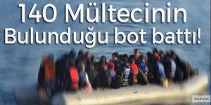 Yine aynı acı: 140 mültecinin bulunduğu bot battı!