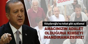 Erdoğan Kılıçdaroğlu'na sert tepki! Kimseyi inandıramazsınız