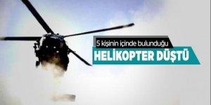 İzmir'de helikopter düştü
