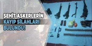 Şehit askerlerin kayıp silahları bulundu!