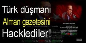 Türk düşmanı Alman gazetesini hacklediler
