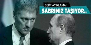 Kremlin Sözcüsü Peskov'dan sert açıklama!