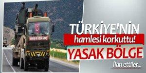 Türkiye'nin hamlesi korkuttu! Yasak bölge ilan ettiler...