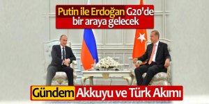 Putin ile Erdoğan G20'de bir araya gelecek: Gündem Akkuyu ve Türk Akımı