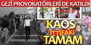 Gezi provokatörleri sözde 'Adalet' yürüyüşünde!