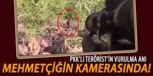 Asker kamerasından teröristin vurulma anı!