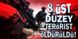 PKK'nın sözde 8 üst düzey yöneticisi öldürüldü
