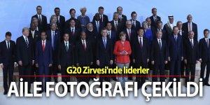 G20 Zirvesi'nde liderlerden aile fotoğrafı