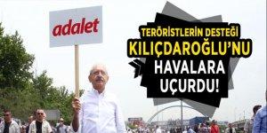 Teröristlerin desteği Kılıçdaroğlu'nu havalara uçurdu