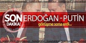 Cumhurbaşkanı Erdoğan Putin ile görüşüyor