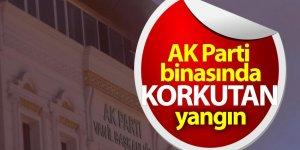 AK Parti binasında korkutan yangın