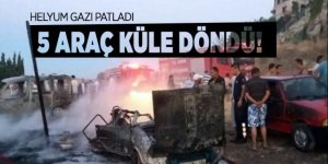 Aydın'da Helyum gazı patladı