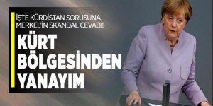 'Kürdistan' sorusuna Merkel'den skandal cevap!