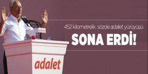 Kılıçdaroğlu'nun 452 kilometrelik yürüyüşü sona erdi