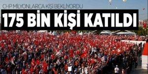 CHP'nin sözde adalet mitingine yalnızca 175 bin kişi katıldı  .